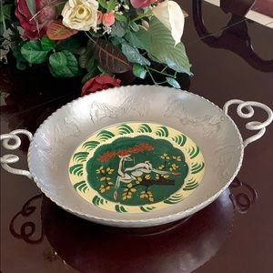 Wrought Farberware Bowl with inlaid LuRay plate
